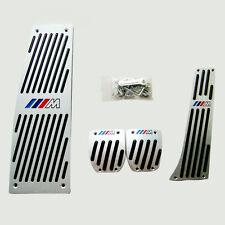 Silver M-Tech Foot Rest MT Pedal Set For BMW E30 E36 E46 E87 E90 E91 E92 E93 M3