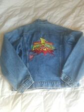 Kids Vintage Nabisco Power Rangers Denim Jacket 1994 Size 14/16