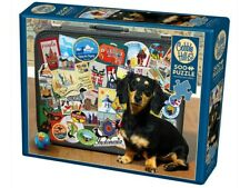 Cobble Hill - Dachshund Round The World Puzzle 500pc