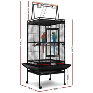 Large Bird Cage Pet Cages Stand Aviary Toys Perching Travel Stand Budgie Parrot