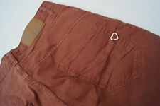 Please Jeans Donna Women Pantaloni STRETCH TG S SMALL TERRACOTTA Top