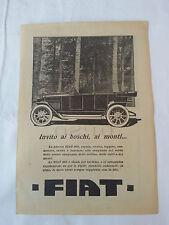 Auto d'epoca FIAT 501 Pubblicità originale Anno 1919 Tratta da rivista cm17X24