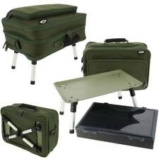 NGT 612 PLUS CARP FISHING Station BOX CASE TACKLE BAG SYSTEM with BIVVY TABLE