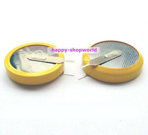 Lot 4 PCS x Tabbed 3V CR2450 Battery Coin Cell Button With 2 Parallel Tabs Pins