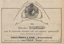 Z1561 Obbiettivo fotografico VOIGTLANDER - Pubblicità d'epoca - 1926 Old advert