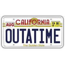 OUTATIME bumper sticker / decal back to the future 145x75mm