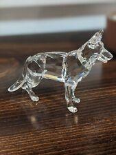 Swarovski Crystal Figurine German Shepherd Dog Mint