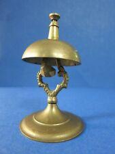 "c.1920 Antique 4.75"" Merchant Desk Counter ~Old Brass~ Tap Service Bell + Patina"