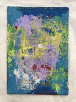 HASWORLD- ORIGINAL ACRYLIC PAINTING CANVAS Abstract Expressionist Landscape