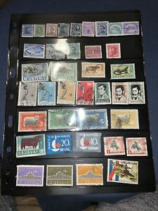 71 Uruguay Postage Stamps. Used.