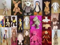Jellycat Jelly Kitten baby Soft Toy Animals Rabbit Bunny Bear Monkey