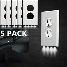 5pc Night Plate Plug Cover w/ LED Light Angel Wall Outlet Cover Hallway Bathroom