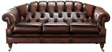 Chesterfield Victoria 3 Seater Antique Light Rust Leather Sofa Settee
