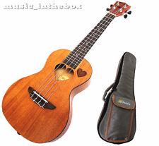 """Sweet 24"""" Concert Mahogany with heart Hole Ukulele & Padding Ukulele Bag"""