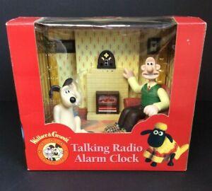 Wallace & Gromit Talking Radio Alarm Clock Boxed WESCO Lot 3