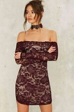 Nasty Gal Barely There Lace Dress Size L