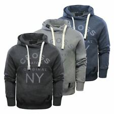 Crosshatch Laramie-Sweat Mens Hoodie Cotton Pullover Hooded Sweater