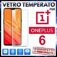 Pellicola in VETRO TEMPERATO per ONEPLUS 6 Proteggi Schermo Protezione Display