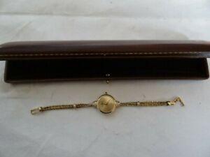 Vintage Baume & Mercier 14K Gold Diamonds Ladies Dress Quartz Watch Bracelet