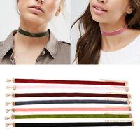 7Pcs/Set Gothic Punk Velvet Choker Collar Pendant Necklace Chain Vintage Jewelry