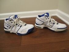 Classic 2005 Used Worn Size 9.5 Nike Force Max Air Shoes White Blue Chrome