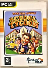 PC CD-ROM GAME SCHOOL TYCOON  Rule your School  KIDS FUN ADULT GAMING LAPTOP VGC