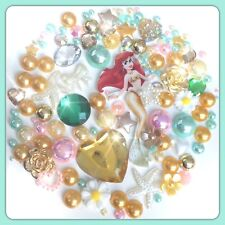 Disney The Little Mermaid Theme Cabochons Gems And Pearls For Decoden Crafts #3
