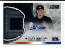 ANDREW MITCHELL 2011 BOWMAN STERLING USA JERSEY BLACK REFRACTOR AUTO #/25 AH6195