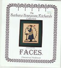 Barbara Bourgeau Richards Faces Dimensional  Cynthia's Teapot Cross Stitch Chart