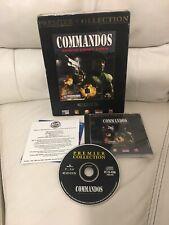 COMMANDOS 1 - Behind Enemy Lines Pc Cd Rom  Original BIG BOX - Fast Secure Post