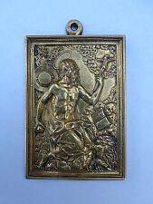Renaissance Circa 1600 Gilt Bronze Saint Jerome Lion Skull Plaque ! Flemish ?!