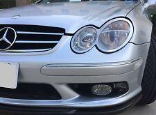 03-09 Mercedes W209 CLK chrome headlight rings trim rim