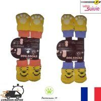 Lot de 4 Chaussettes Confortable antidérapante pour Chien Chiots ou Chat Neuf FR