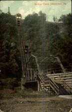 Johnstown PA Incline RR Plane c1910 Postcard FANCY CANCEL FROM WORCESTER NY