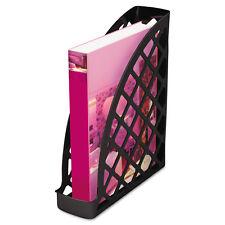 UNIVERSAL Recycled Plastic Magazine File 11 3/4 x 3 x 9 1/2 Black 08118