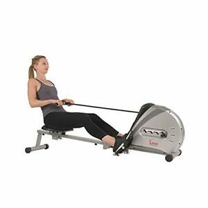 Sunny Health & Fitness Rowing Machine Rower Ergometer with Digital Monitor, I...