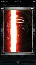 Topps Star Wars Digital Card Trader Wood Gray Posters 2 - Wave 2 Kylo Ren Insert