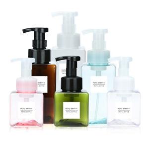 Plastic Clear Shower Gel Soap Dispenser Foaming Bottle Pump Container Liquid