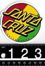 SANTA CRUZ SKATEBOARDS STICKER Santa Cruz Rasta Dot 3 in Round Decal