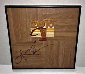 2016 NBA Champs Cleveland Cavaliers KYRIE IRVING Signed Autographed FRAMED Floor