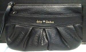 """Juicy Couture Small Black Wristlet Purse 8.5""""L x 5""""H x 1""""D"""