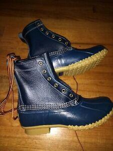 "8"" Insulated Bean Boot Limited Edition Women's, 8, Medium B, Raven Blue NIB"