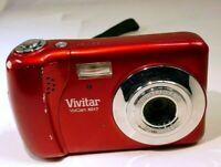Vivitar ViviCam X029 10MP Digital Camera - red - tested works