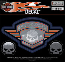 Harley Davidson Willie G Skull Badge Medium Decal