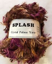 Crystal Palace Splash #7180 Otter - Browns Grape Feather Boa Eyelash Yarn 100gr