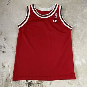 Vintage 90s Champion Chicago Bulls BLANK Michael Jordan Jersey XS -