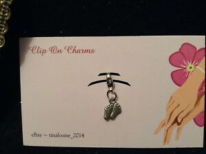 Clip on Charm - Baby Feet - For Link Bracelets and Zippers