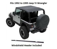 Jeep Extended Bikini Top with Windshield Header for 92-95 Jeep YJ Wrangler