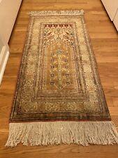 Turkish rug hand knotted silk
