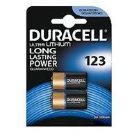2 x Duracell CR123A CR123 123 3v Lithium Photo Battery